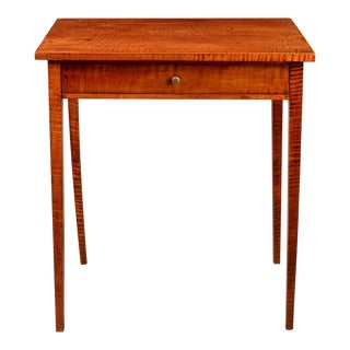 Rare Federal One-Drawer Side or Serving Table
