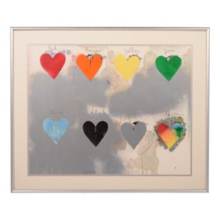 LOOK AT DINE - 8 HEARTS Lithograph by Jim Dine