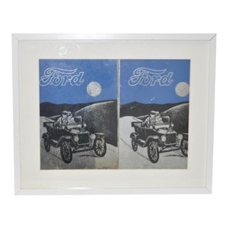 Vintage Framed Ford Advertising Mirrors