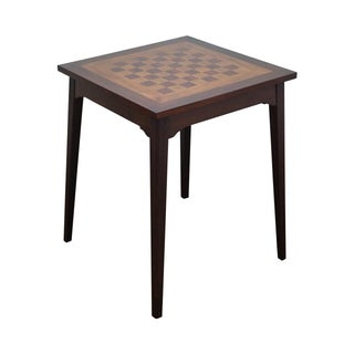 Solid Mahogany Chess Checker Board Top Game Table