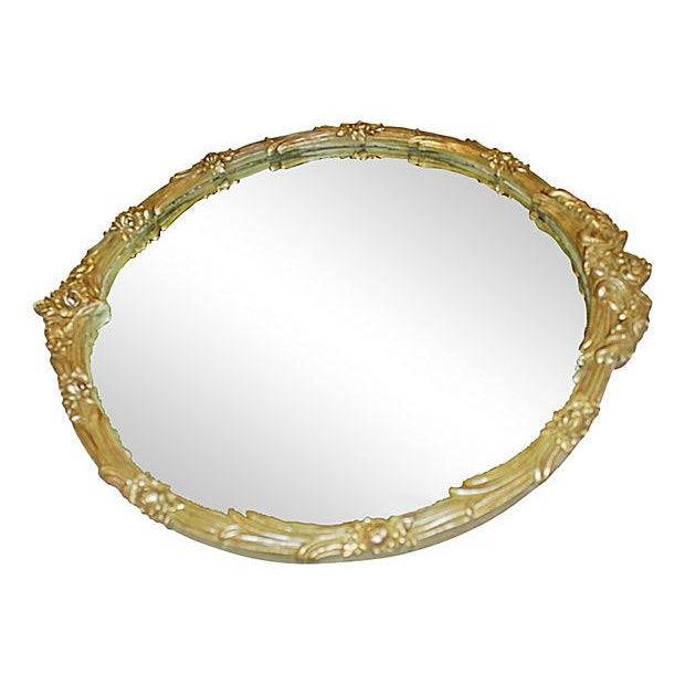 1920's Round Silver & Gilt Mirror - Image 2 of 4
