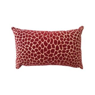Clarence House Pink Leopard Velvet Accent Pillow