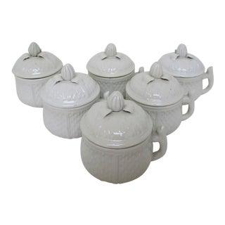 Pot de Crème Bowls w/ Lids, Service for 6