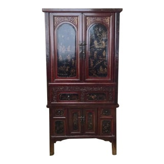 Antique Two-Piece Chinese Wedding Armoire
