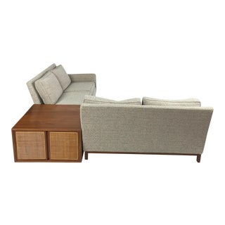 Henredon Danish Modern Sectional Sofa with Corner Storage Case, ca. 1960