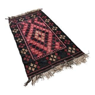 Oriental Wool Rug - 3′3″ × 6′8″