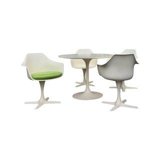 Saarinen Style Tulip Dining Set by Burke