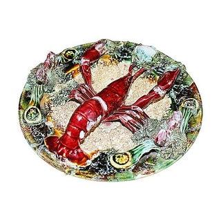 Majolica Lobster Plate