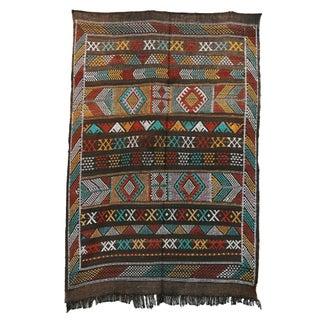 """Vintage Moroccan Cactus Silk Rug - 3'3"""" X 4'8"""""""