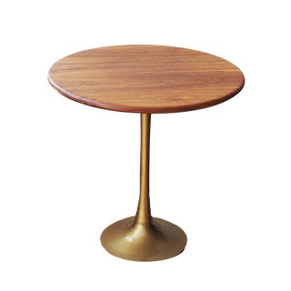 Walnut and Brass Side Table