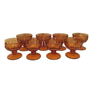 Amber Indiana Glass Colony Sherbet Glasses - 8