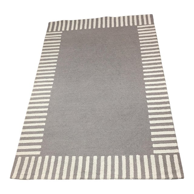 Gray Striped Area Rug - 5' x 8' - Image 1 of 9