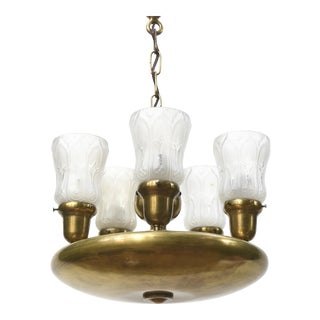 Five Light Early Electric Disk Fixture