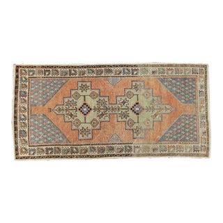 "Vintage Distressed Oushak Rug Runner - 3'9"" x 7'9"""