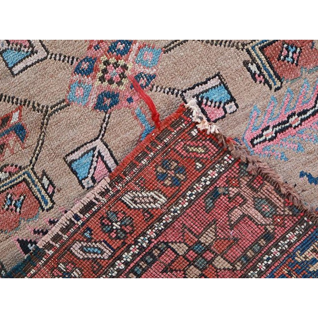 """Antique Persian Sarab Runner Early 1900's - Size 3'4"""" X 11'3"""" - Image 4 of 4"""