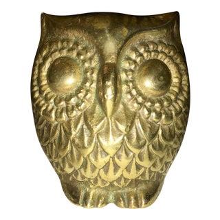 Mid-Century Brass Owl Figure