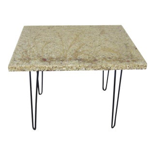 1960s Mid-Century Resin Stone Table