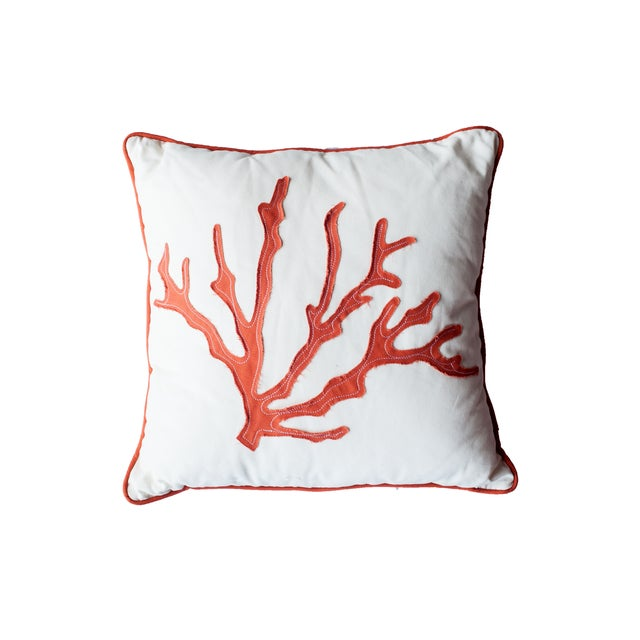 Image of Orange Coral Pillow