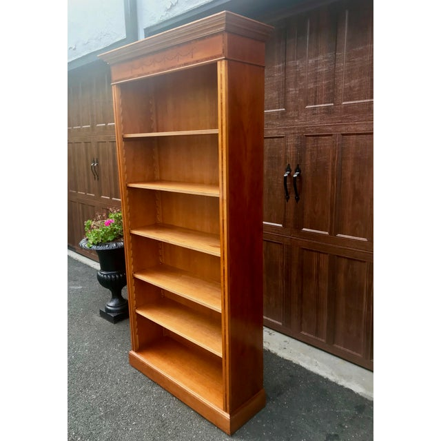 English Yew Wood & Satinwood Inlay Bookcase - Image 3 of 9
