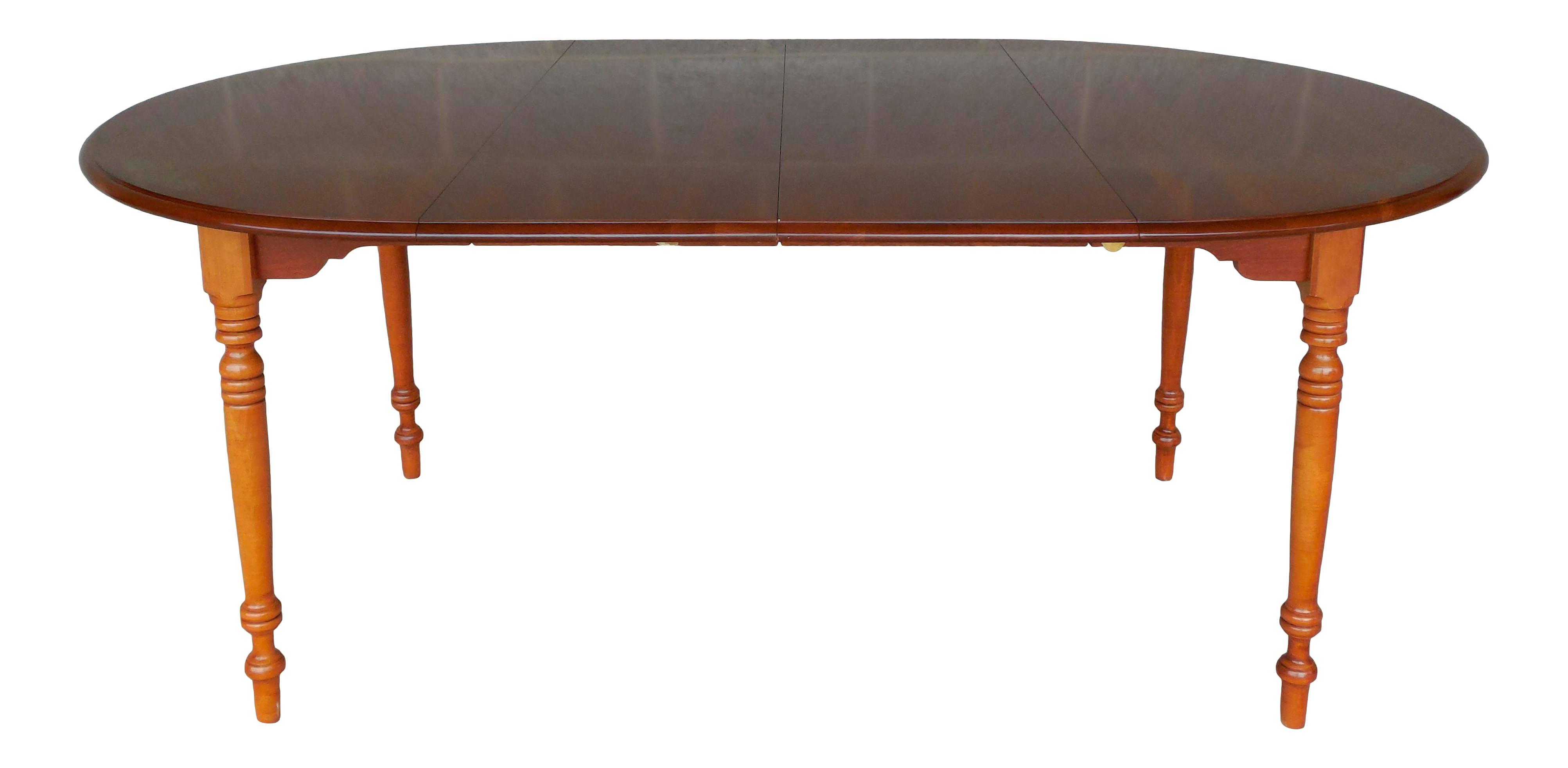 Elegant L. Hitchcock Cherry Harvest Stenciled Dining Extension Table