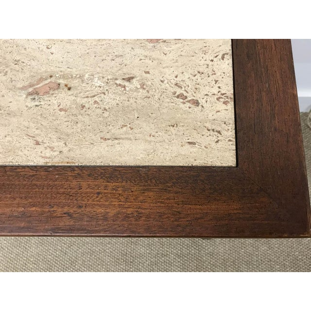 Mid Century Marble Top Console Table, Desk - Signed White Furniture - Image 7 of 8