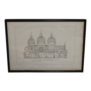 Vintage Basilica Architectural Etchings