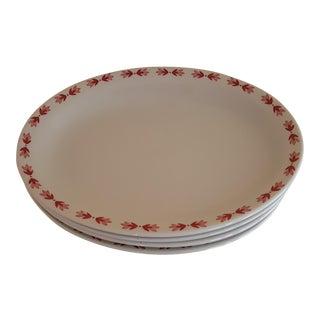 Vintage Red Laurentian Restaurant Ware - Set of 4