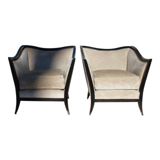 Contemporary Swaim Club Chairs - A Pair