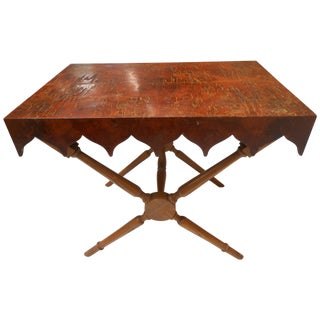 French Scalloped Side Table