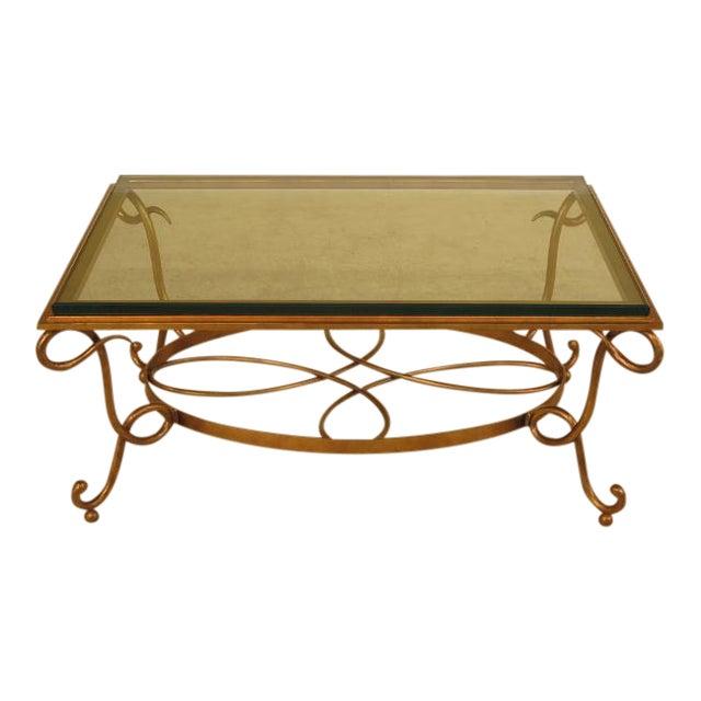 Glass Top Gold Iron Base Coffee Table Chairish