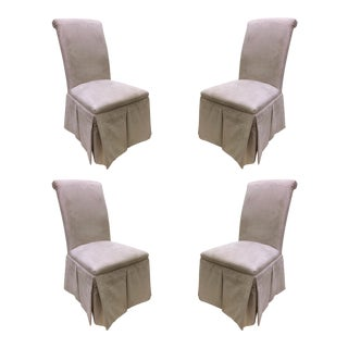 Rolled Back Parsons Chairs - Set of 4