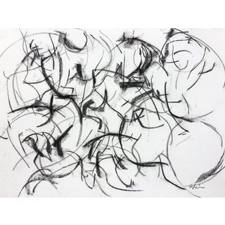 Polo Player #1 Abstract Drawing