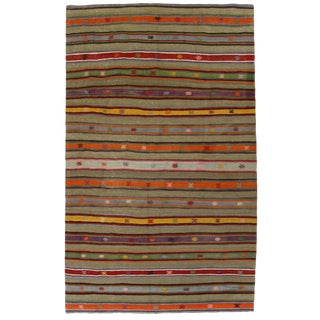 Vintage Turkish Kilim Flatweave - 5'2 x 8'6