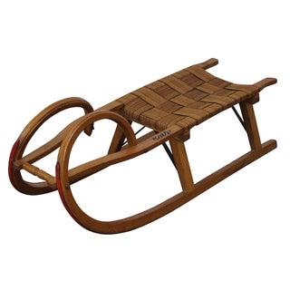 Vintage Wood Toboggan Sled