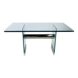 Chrome and Glass Writing Desk by Pace