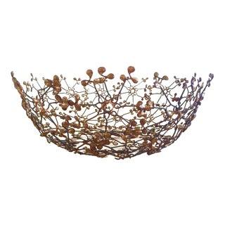 Mid-Century Brass Wire Bowl