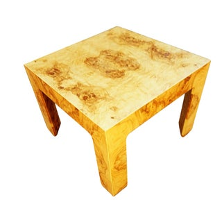Milo Baughman Era Burled Parsons Table