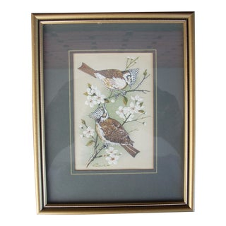 Vintage English Woven Silk Artwork