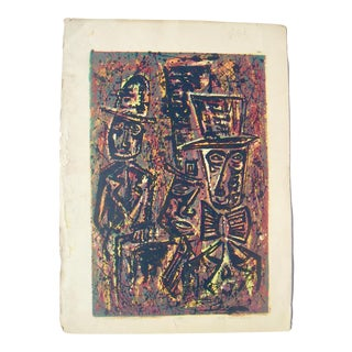 """Bill Chambers """"Tax Collectors"""" Lithograph"""