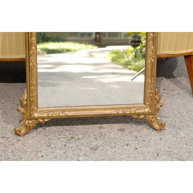 Italian Hand-Carved Rococo Gilt Mirror - Image 6 of 6