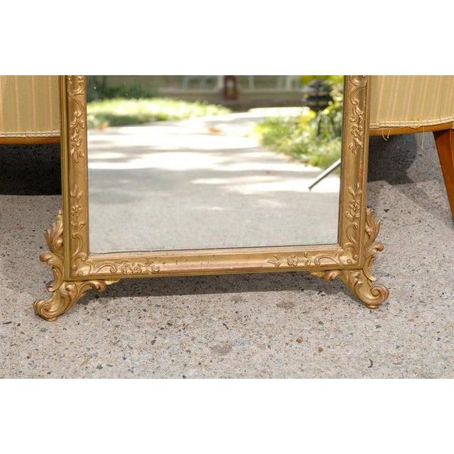 Image of Italian Hand-Carved Rococo Gilt Mirror