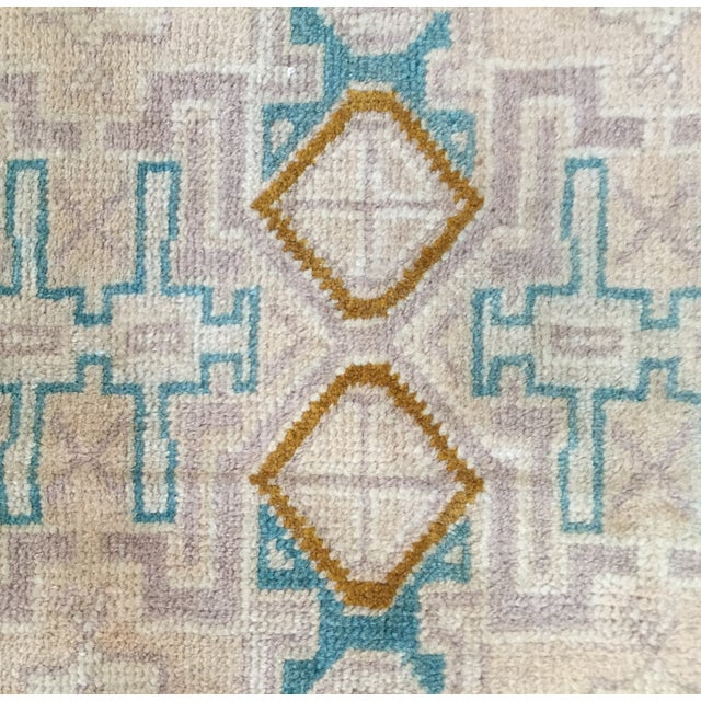 "Turkaman Handmade Persian Rug 1'6"" x 2'8"" - Image 6 of 10"