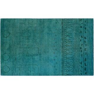 "Turquoise Overdyed Rug - 5' X 7'11"""