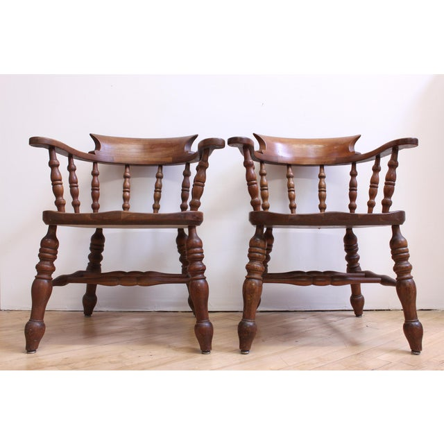 L & JG Stickley Colonial Cherry Valley Captain's Chairs - A Pair - Image 2 of 7