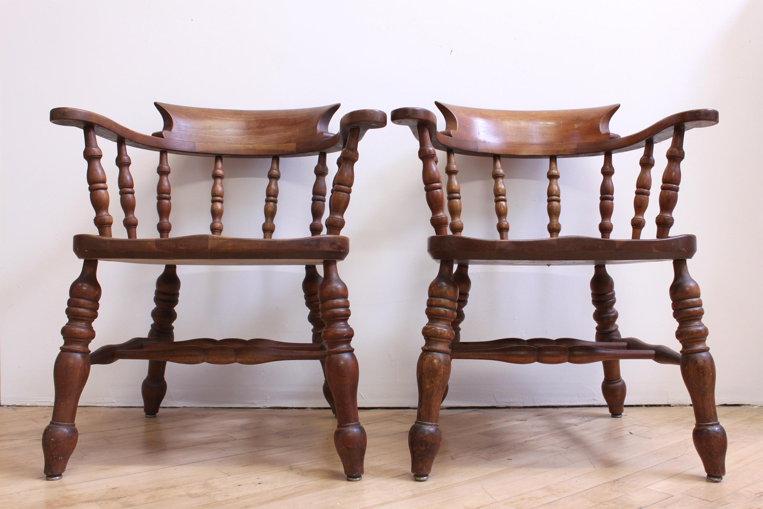 L U0026 JG Stickley Colonial Cherry Valley Captainu0027s Chairs   A Pair   Image ...