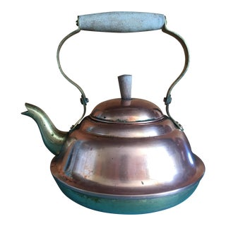 Antique Copper and Brass Tea Kettle