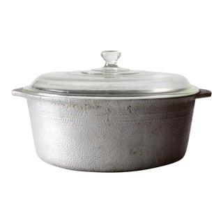 Mid-Century Hammered Aluminum Casserole Dish