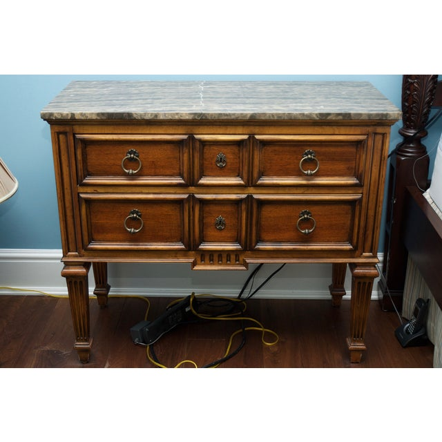 Ethan Allen Tuscan Bonner Tables- A Pair - Image 2 of 4