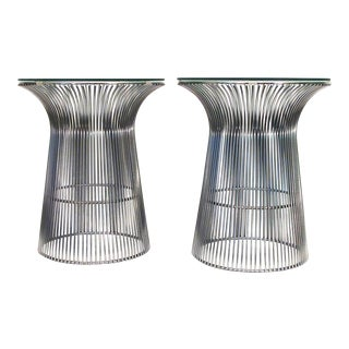 1970s Platner Style Cylinder Tables - S/2