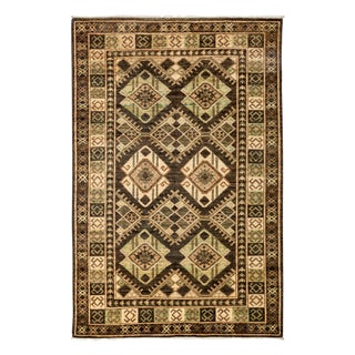 """New Tribal Traditional Hand Knotted Area Rug - 4'2"""" x 5'10"""""""
